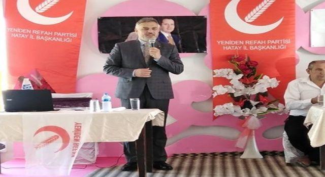 Yeniden Refah Partisi Hatay'a Çıkarma Yaptı