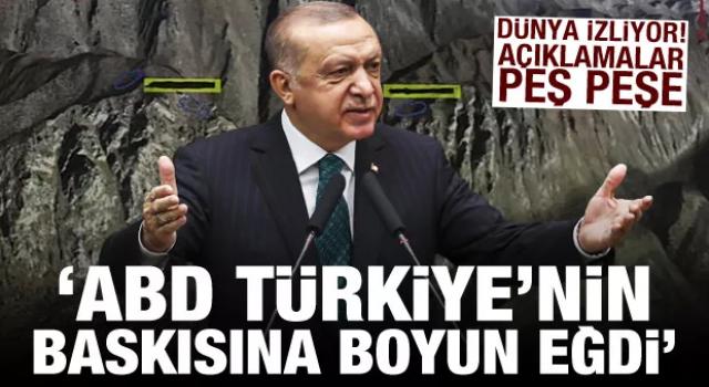 Cumhurbaşkanı Erdoğan:'ABD Türkiye'nin baskısına boyun eğdi'