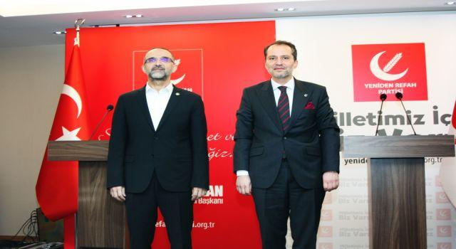 Erbakan, HÜDA PAR Genel Başkanı İshak Sağlam'ı kabul etti