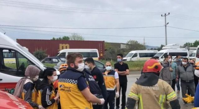 Bursa'da işçi servisi kaza yaptı! Çok sayıda yaralı var