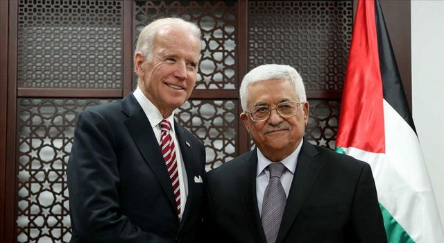Joe Biden, Filistin Devlet Başkanı Mahmud Abbas'la görüştü