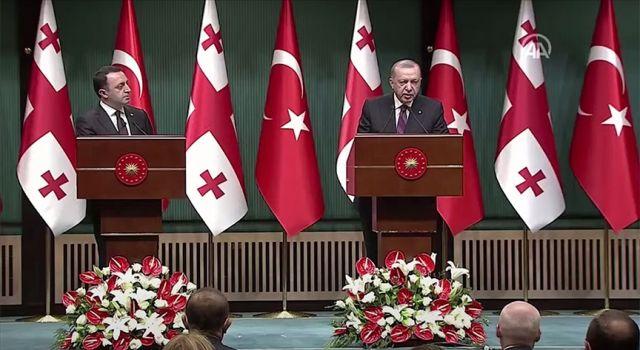 Cumhurbaşkanı Erdoğan, Gürcistan Başbakanı Garibashvili ile görüştü