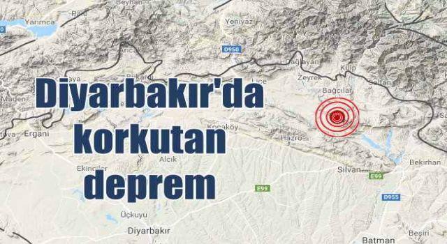 Diyarbakır ve çevre illerde hissedildi, Korkutan deprem!