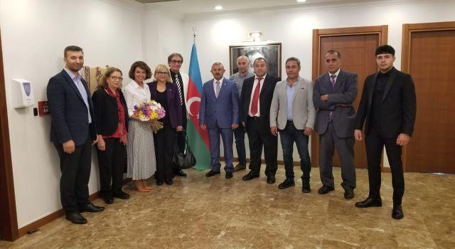 İSTAD Yönetim Kurulu'ndan Azerbaycan Başkonsolosu Narmina MUSTAFAYEVA'ya özel ziyaret.