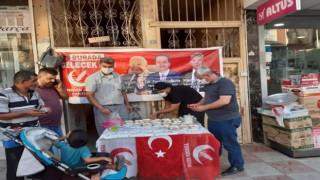 Yeniden Refah Partisi Hatay Kırıkhan'da Aşure Dağıtımı Yaptı