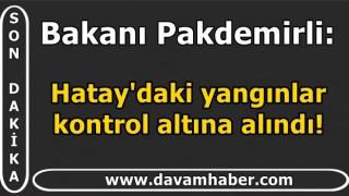 Bakanı Pakdemirli: Hatay'daki yangınlar kontrol altına alındı!