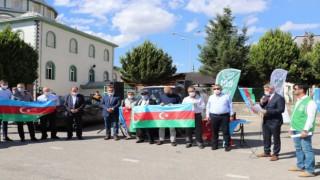 İHH İzmir Azerbaycan destek için basın açıklaması yaptı.