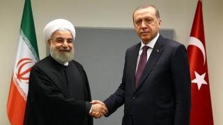 Cumhurbaşkanı Erdoğan, Hasan Ruhani ile görüştü
