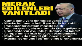 Cumhurbaşkanı Erdoğan gündeme ilişkin merak edilenleri yanıtladı