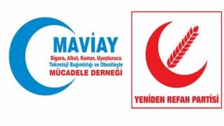 Yeniden Refah Partisi Fatih İlçe Başkanlığı'ndan Mavi Ay Derneği'ne anlamlı ziyaret