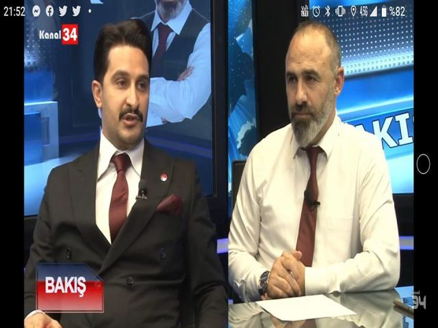 KANAL34 BAKIŞ Programı Yeniden Refah Partisi İstanbul İl Gençlik Kolları Başkanı Recep EROL