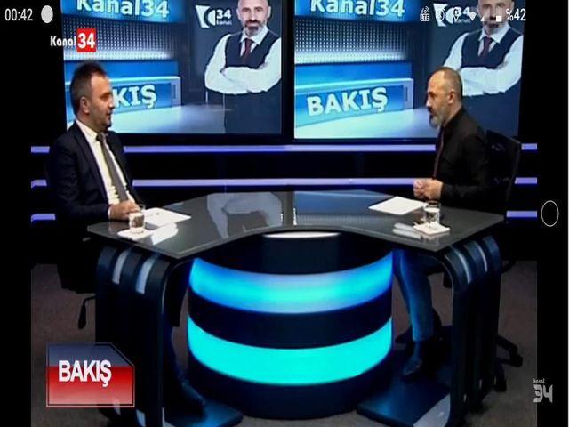 KANAL34 BAKIŞ Programı Yeniden Refah Partisi Zeytinburnu İlçe Başkanı Onur Dolar
